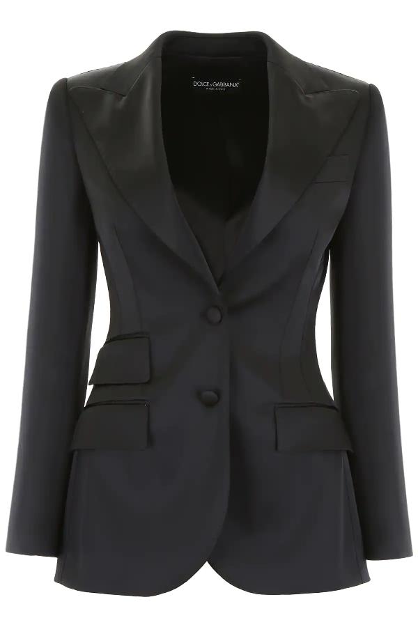 Dolce & Gabbana Single-breasted Jacket In Black
