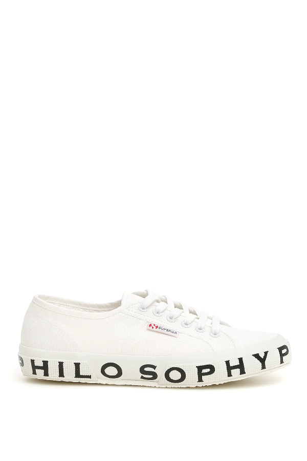 Philosophy Superga Lettering Sneakers In White