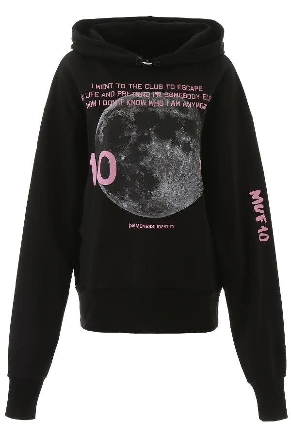 Muf10 Printed Hoodie In Black