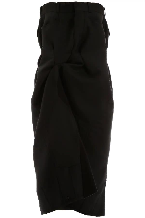 Maison Margiela Mini Bustier Dress In Black
