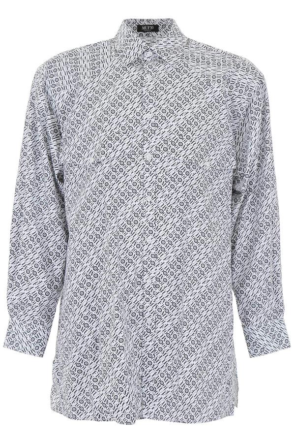 Muf10 Monogram Lumber Shirt In White,black