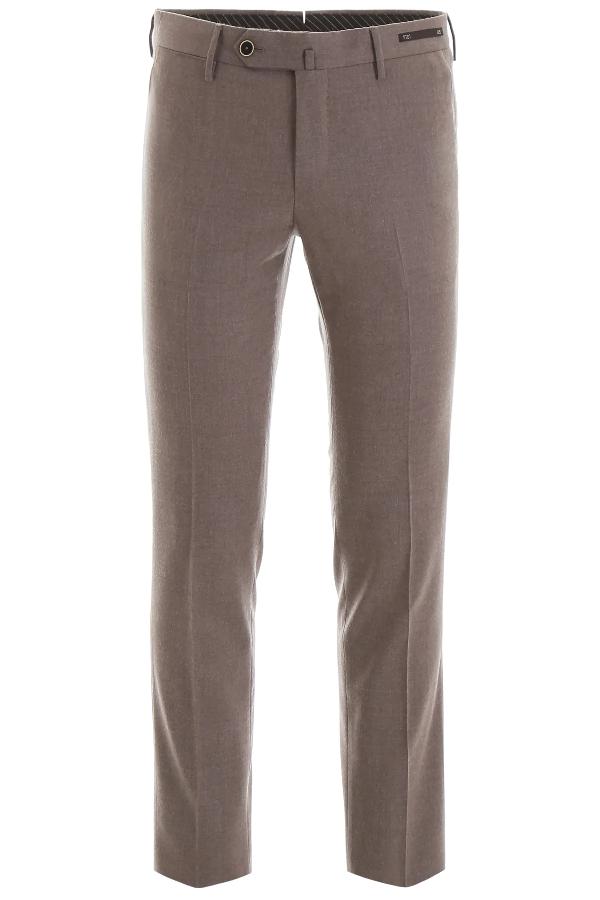 Pt01 Slim Trousers In Beige