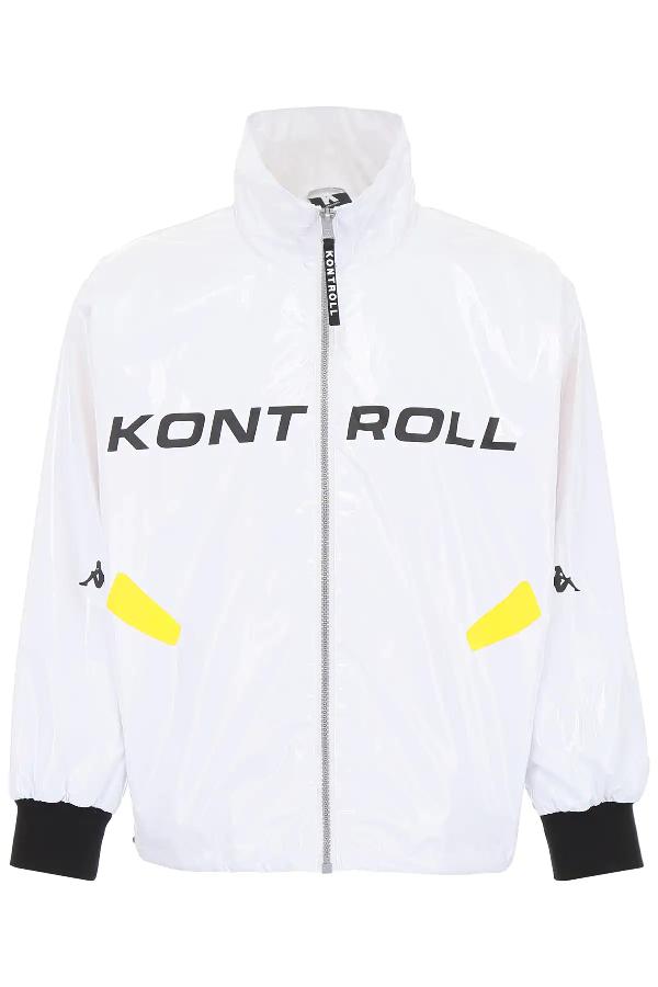 Kappa Classic Sports Jacket In White