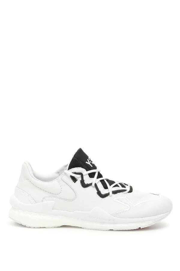 Y-3 Men's Adizero Runner Low-top Sneakers In White,black