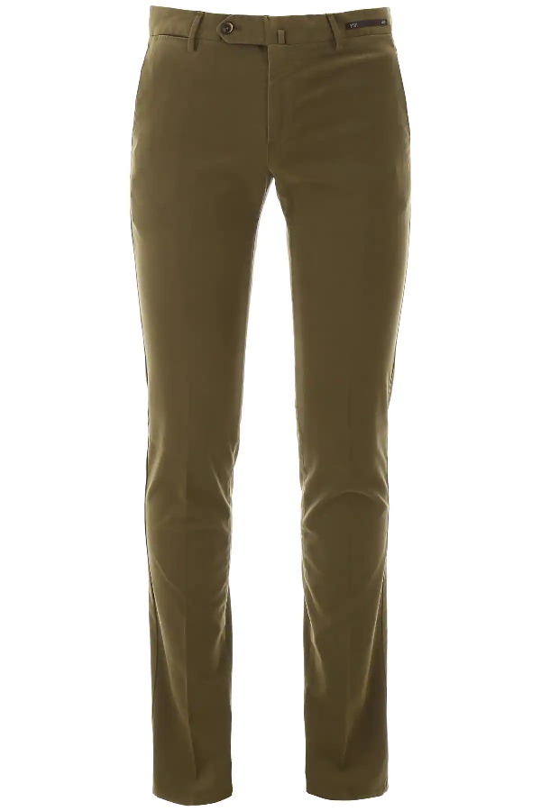 Pt01 Superslim Trousers In Green