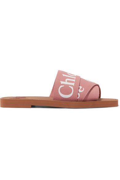 Chloé Women's Woody Logo Slide Sandals In Blush