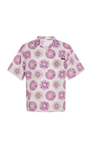 Prada Graphic-print Cotton-poplin Shirt In White