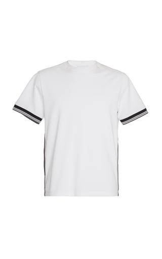 Prada Stripe Inserts T-shirt In White