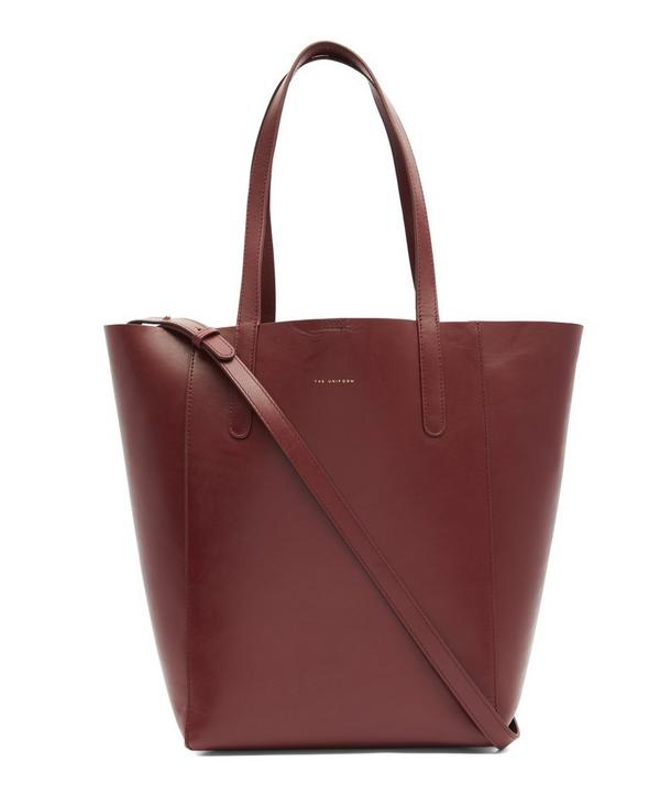 The Uniform Large Leather Bucket Bag In Margaux