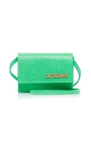 Jacquemus Le Bello Crocodile Embossed Crossbody Bag In Green