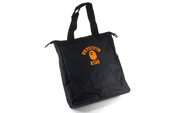 Bape Summer Bag Block Print Logo Tote Bag Black/orange