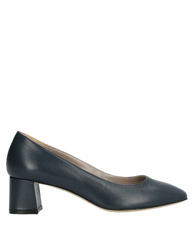 Cheville Pump In Slate Blue