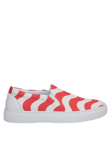 Au Jour Le Jour Slip-on-sneakers Mit Print In Red White