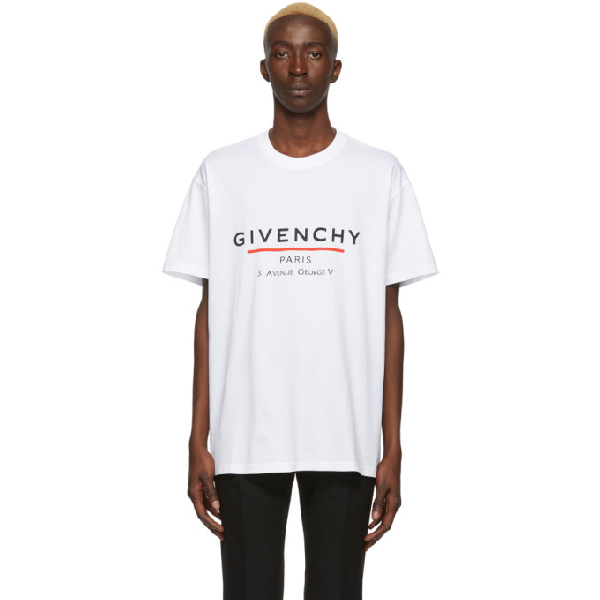 Givenchy Oversized Logo-print Cotton-jersey T-shirt In 100 White