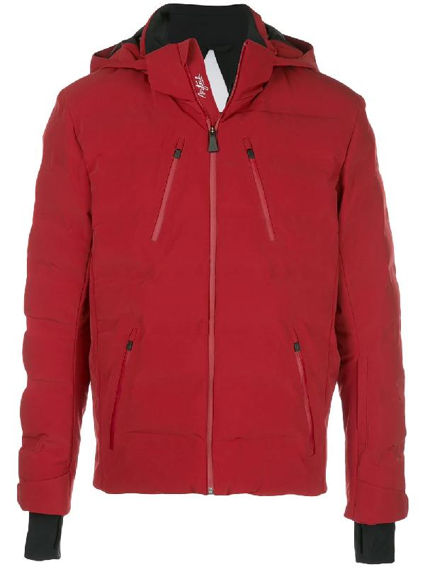 Aztech Mountain 'nuke Suit' Hooded Waterproof Puffer Jacket In Red