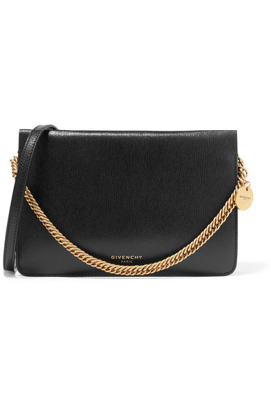 Givenchy Cross 3 Textured-leather And Suede Shoulder Bag In Black