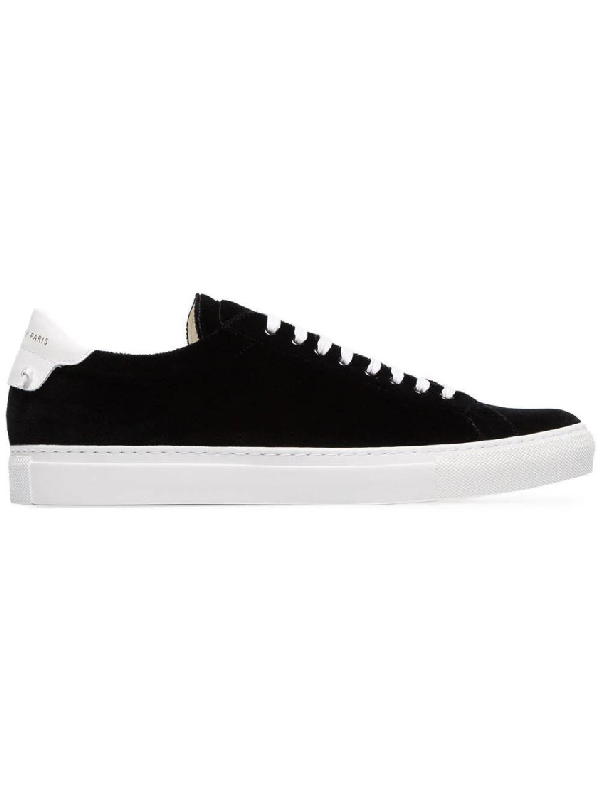Givenchy Black And White Urban Street Low Top Velvet Sneakers