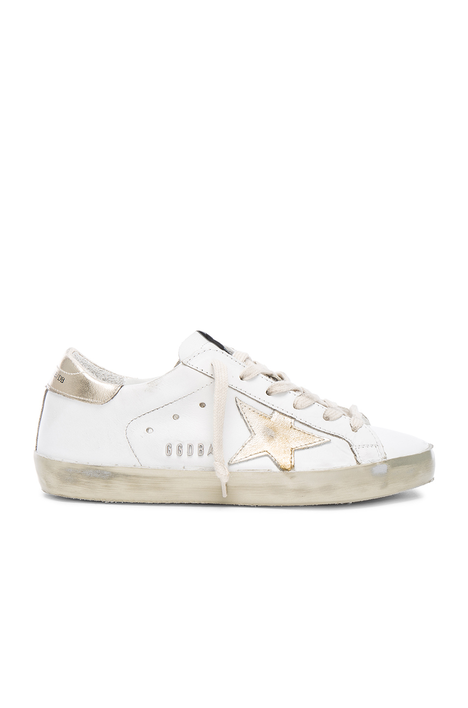 quality design f94bb 1d430 Golden Goose Super Star Sparkle Low-Top Leather Trainers In White