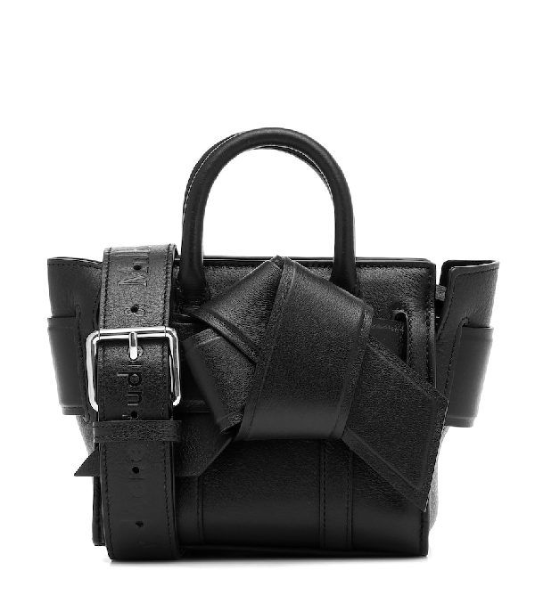 Acne Studios X Mulberry Micro Bayswater Musubi Leather Tote In Black