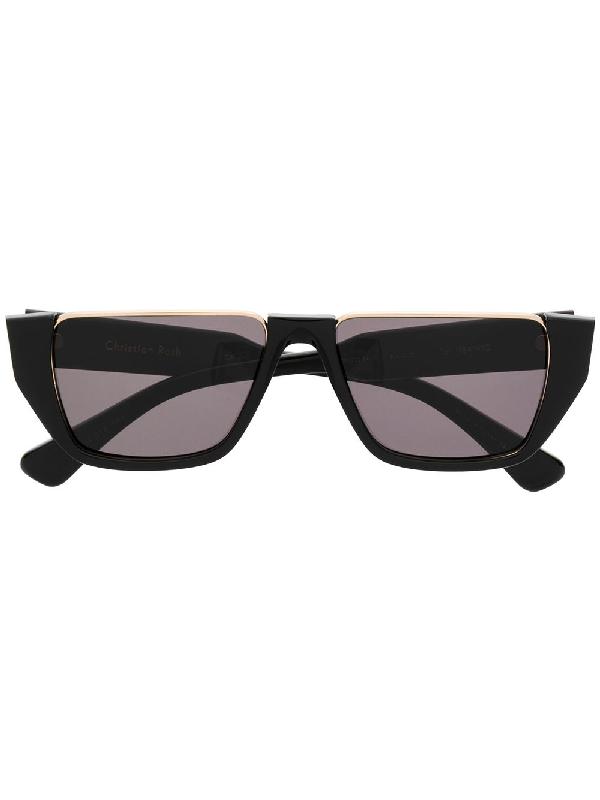 Christian Roth Cr-401 Shield Sunglasses In Black