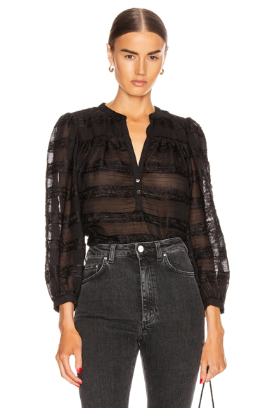 Icons Objects Of Devotion Modern Poet Top In Black Paneled Lace