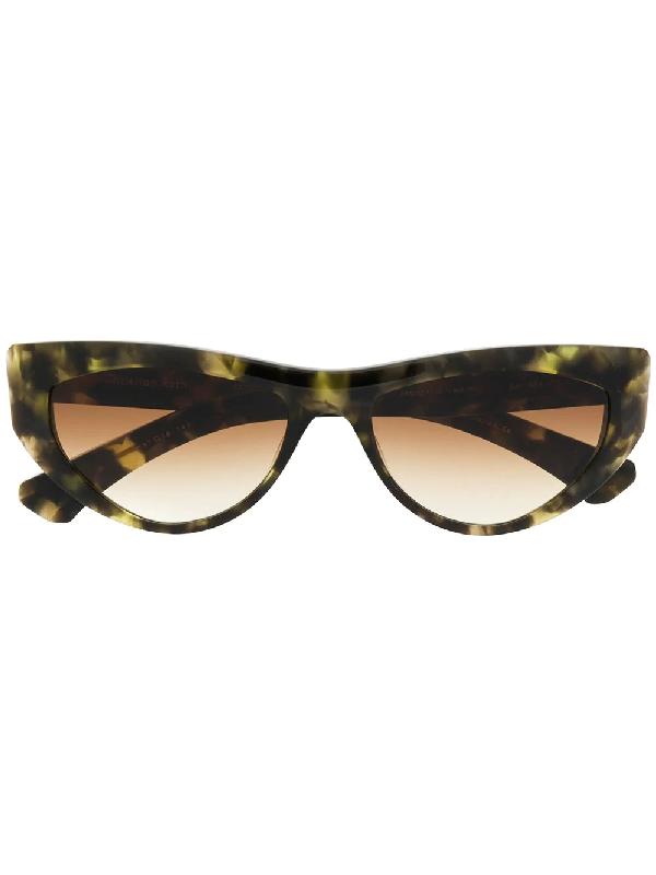 Christian Roth Tortoiseshell Cat-eye Frame Sunglasses In Green