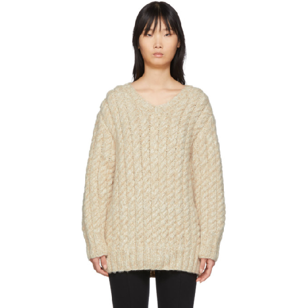 The Row Beige Flania Sweater In Lbmrl Light