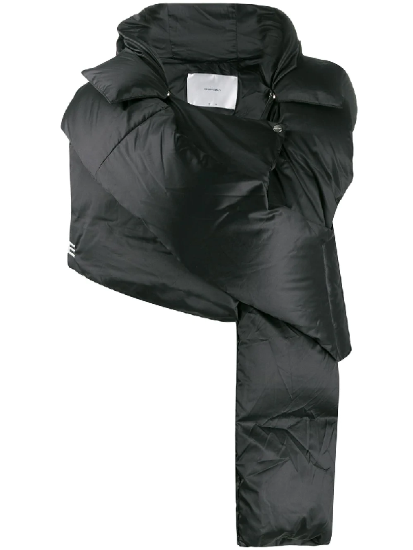 Heliot Emil Downfilled Scarf-jacket In Black