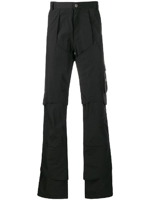 Heliot Emil Workwear Cargo Trousers In Black