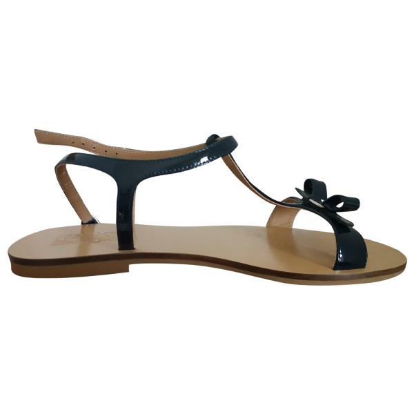 Salvatore Ferragamo Blue Leather Sandals