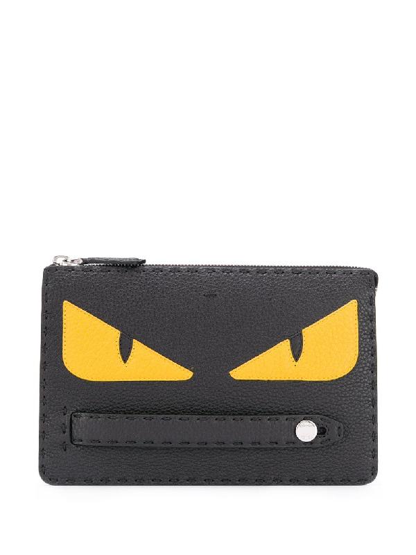 "Fendi Portemonnaie Im ""bag Bugs""-design In Black"