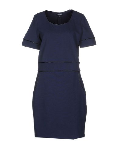 Emporio Armani Short Dress In Slate Blue