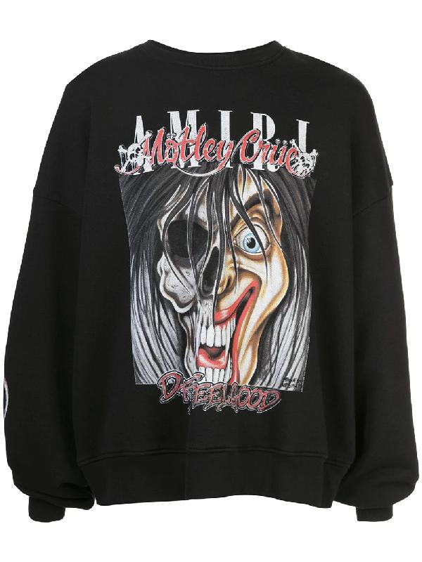 Amiri + MÖtley CrÜe Oversized Printed Loopback Cotton-jersey Sweatshirt In 黑色