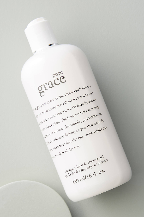 Philosophy Pure Grace Shampoo, Bath + Shower Gel In White