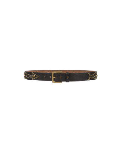 Htc Leather Belt In Dark Brown