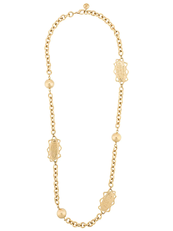 Givenchy 1990s Sphere And Sun Motifs Chain In Gold