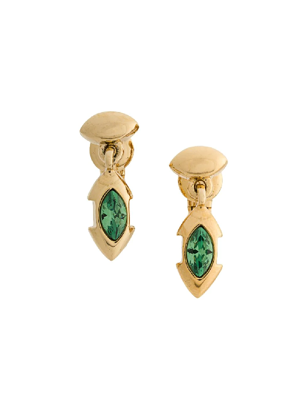 Givenchy 1980s Pendant Earrings In Gold