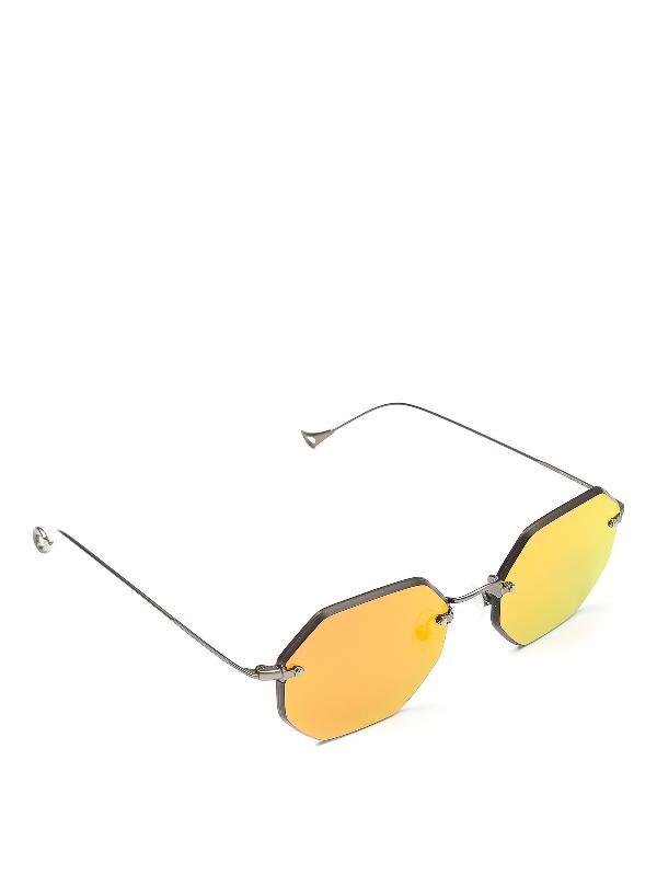 Eyepetizer Oscar Red Mirror Lens Sunglasses In Metallic
