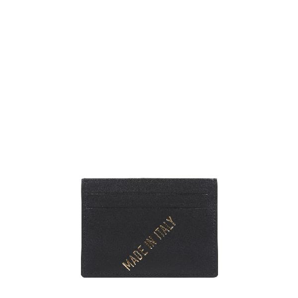 Meli Melo Mens Leather Card Holder Black