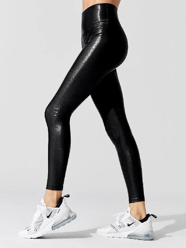 Carbon38 Matte High Rise Full-length Legging In Black