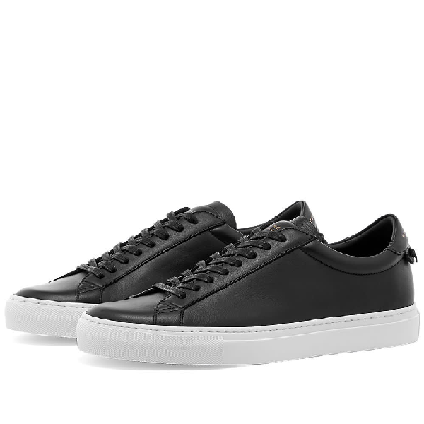Givenchy Black And Silver Urban Street Sneakers In 001 Black
