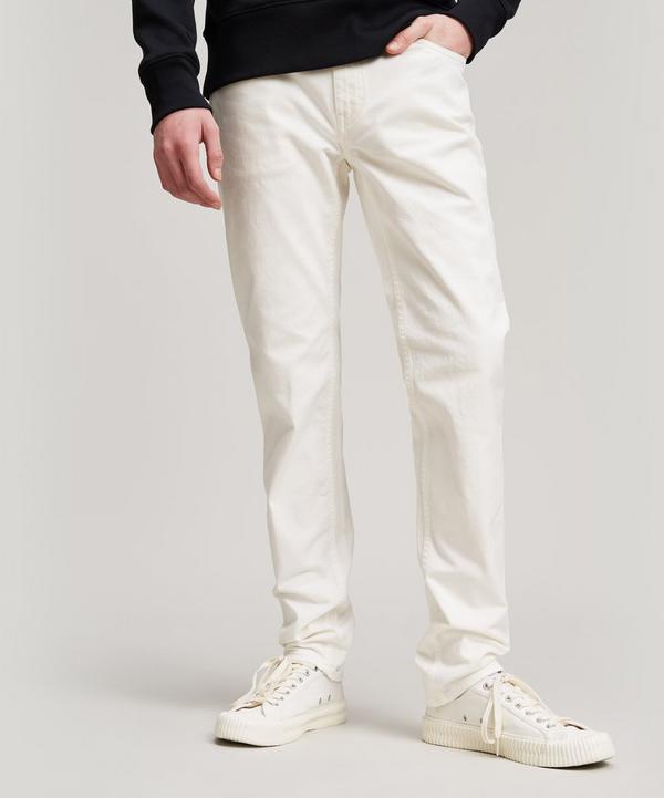 Acne Studios North White Jeans In White Denim