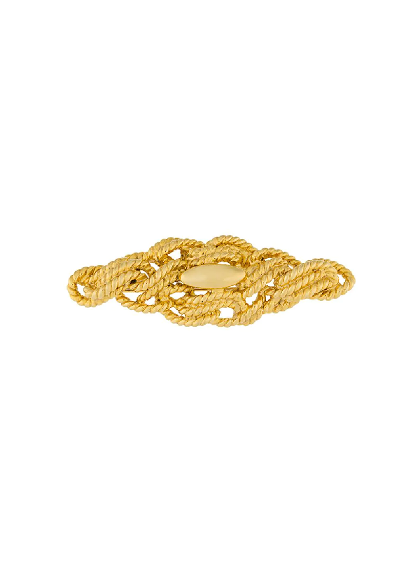 Givenchy 1980s Tangled Rope Brooch In Gold