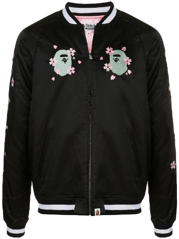 Bape Sakura Souvenir Jacket In Black