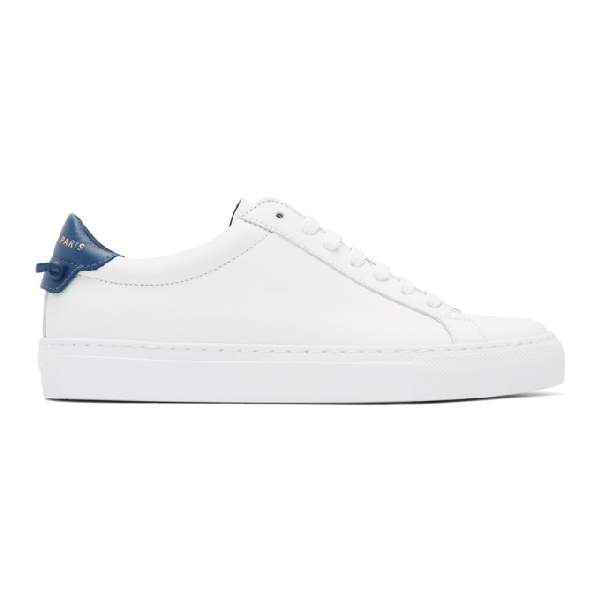 Givenchy Urban Street Low-top Leather Trainers In 114 Navy
