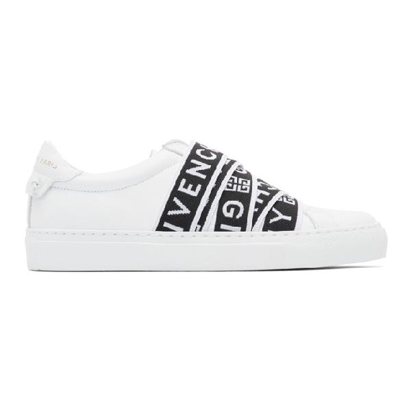Givenchy 白色 4g Urban Knots 弹力绑带运动鞋 In White