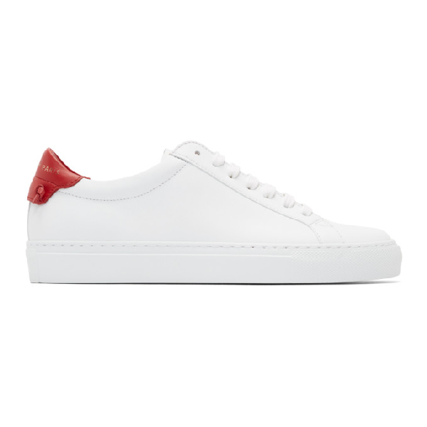 Givenchy White Urban Street Sneakers - 白色 In 112 Red