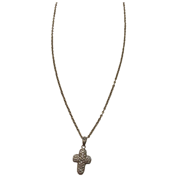 David Morris White White Gold Necklace