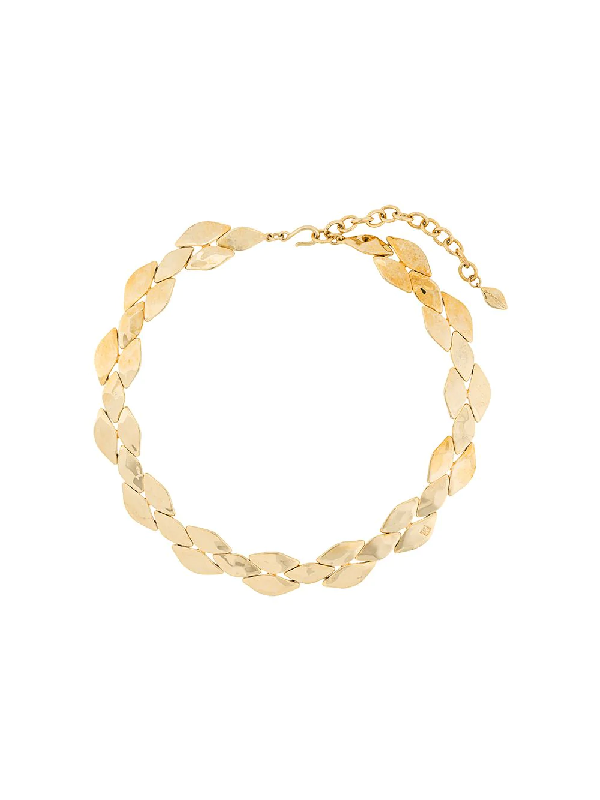 Givenchy 1990s Scales Motif Short Necklace In Gold
