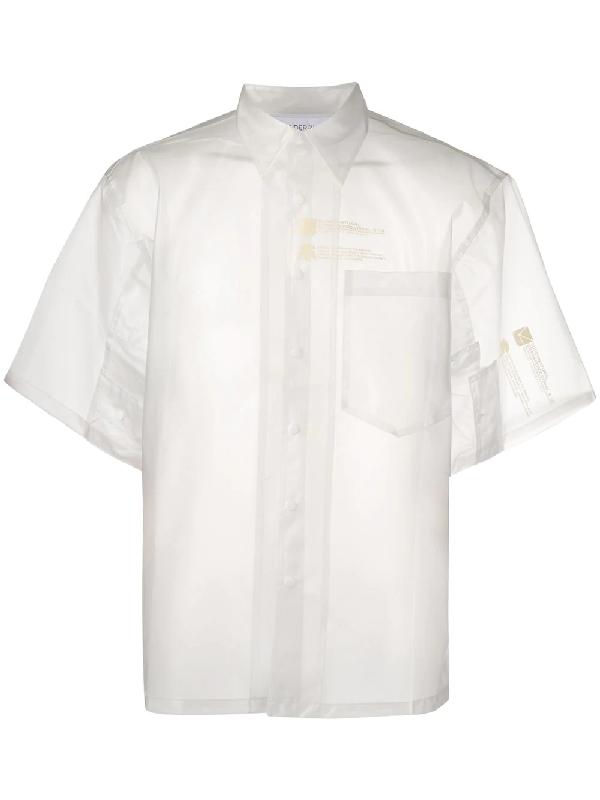 Xander Zhou Oversized Pvc Shirt In White